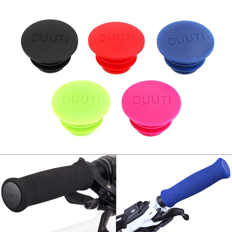 5 Colors 1Pair MTB Bike Bicycle Handlebar Grip Bar End Plugs Stoppers Caps Cover