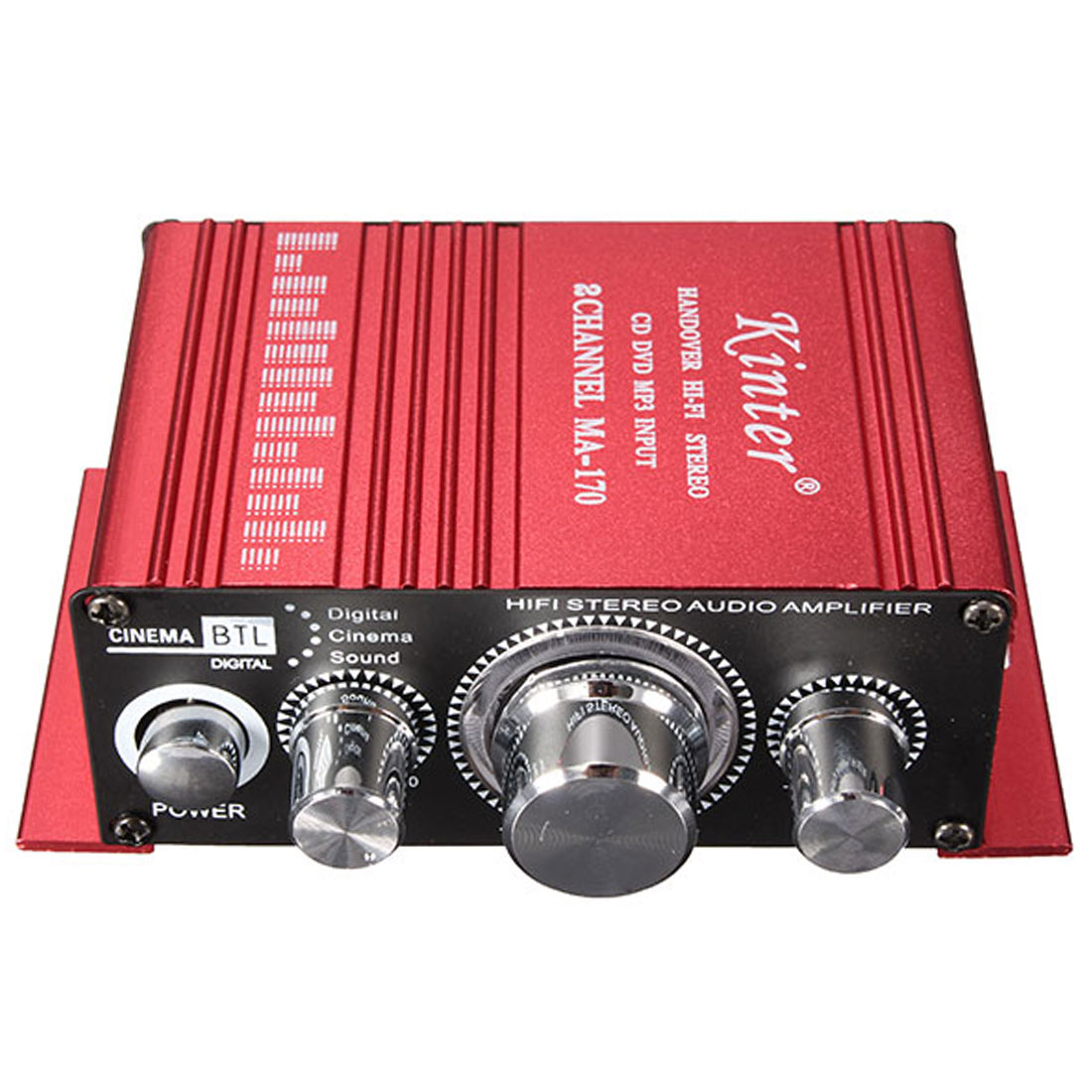 2CH Hi-Fi Stereo Amplifier Booster DVD CD MP3 Input for Car