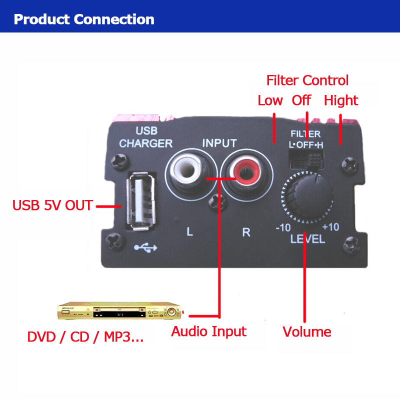 Mini-Hi-Fi-500W-2-Channel-Stereo-Audio-Amplifier-For-Car-Motorcycle-Home-New thumbnail 8