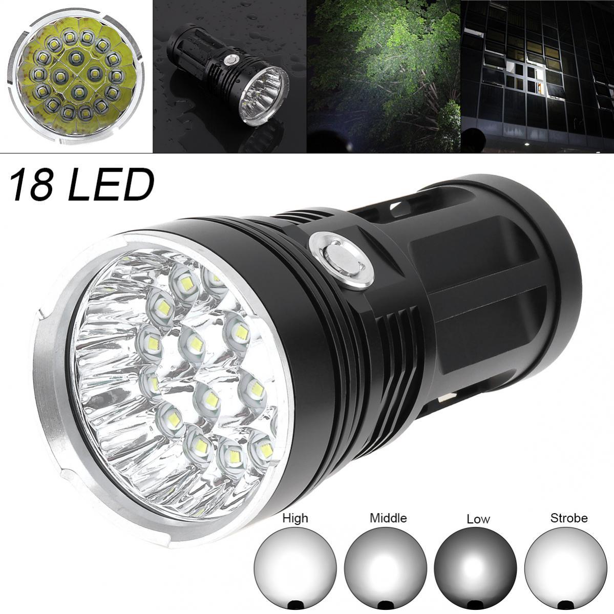 40000LM-18-x-CREE-XM-L-T6-LED-4-Modes-Flashlight-Torch-4-x-18650-Hunting-Lamp