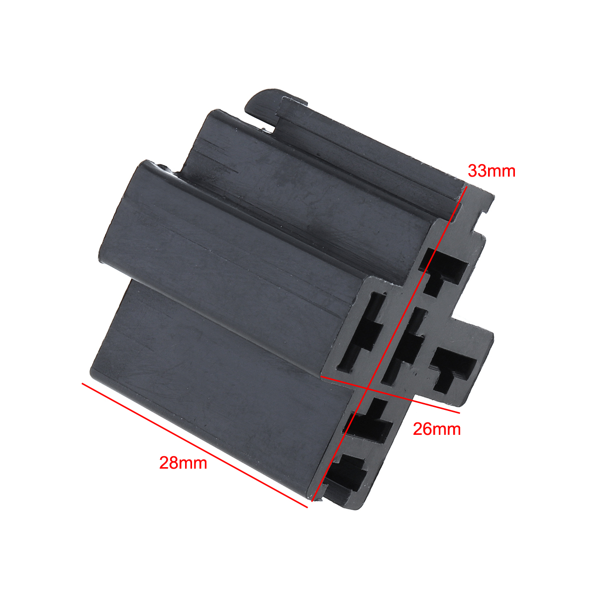 6-3mm-Car-Vehicle-5-Pin-Relay-Socket-Connector-Holder-with-5pcs-Copper-Terminal thumbnail 2