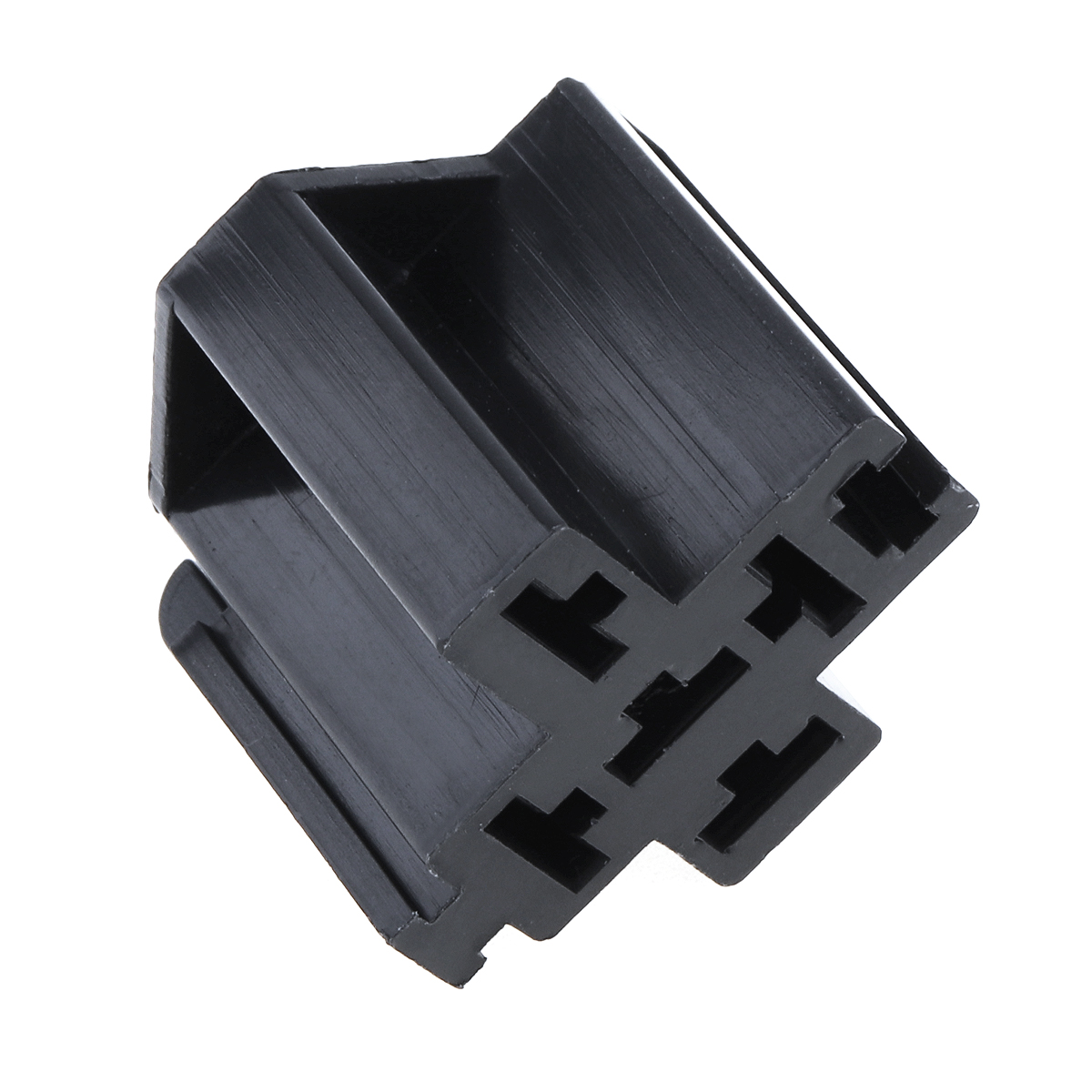 6-3mm-Car-Vehicle-5-Pin-Relay-Socket-Connector-Holder-with-5pcs-Copper-Terminal thumbnail 6