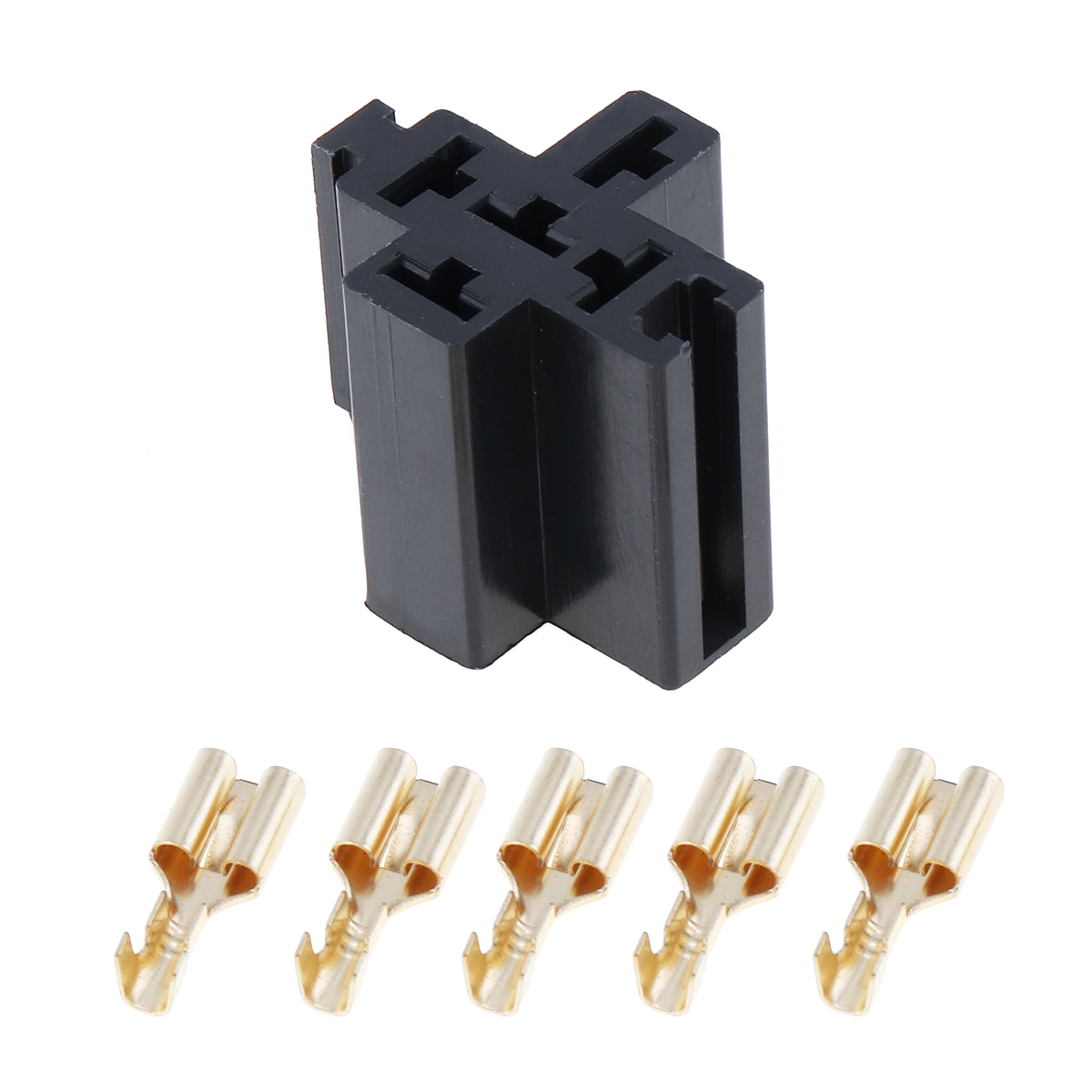 6-3mm-Car-Vehicle-5-Pin-Relay-Socket-Connector-Holder-with-5pcs-Copper-Terminal