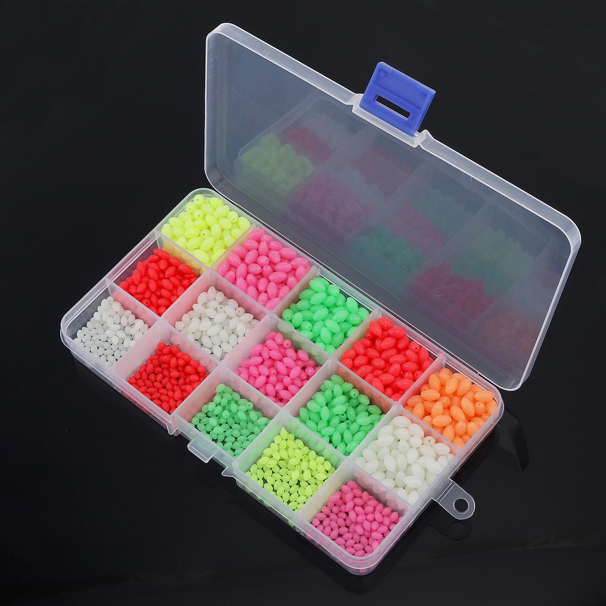 1500Pcs-Oval-Night-Luminous-Fishing-Beads-Sea-Fishing-Lure-Float-Tackle-Stoppers thumbnail 5