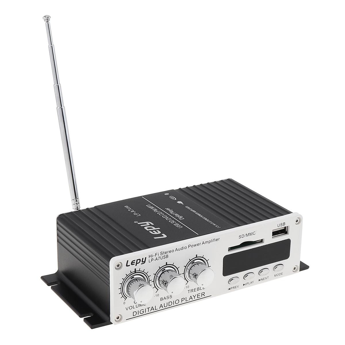 LEPY-Bluetooth-Mini-Power-Audio-Amplifier-Hi-Fi-AMP-MP3-FM-USB-SD-AUX-Car-Home thumbnail 5
