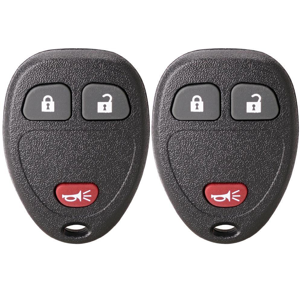 15913421 Set of 2 Flip Key Fob fits 2007-2016 Buick Cadillac GMC Chevy Saturn Keyless Entry Remote
